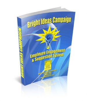 Employee suggestion program, suggestion program, ideas campaign, suggestion box, bright ideas, cost reduction campaign